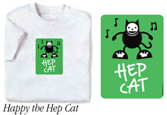 Happy the Hep Cat t-shirt