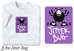 JJ the Jitter Bug t-shirt